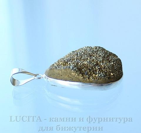 Подвеска Кварц в рамке (цвет - античное серебро) 31,2х21,9х11,2 мм №10