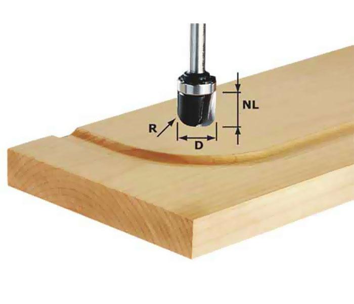 Фреза для изготовления желобка HW S8 R6,4 KL Festool 490982