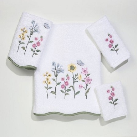 Полотенце 41х76 Avanti Country Floral белое
