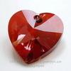 6202/6228 Подвеска Сваровски Сердечко Crystal Red Magma (28 мм) ()