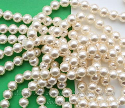 5810 Хрустальный жемчуг Сваровски Crystal Light Creamrose круглый 8 мм , 5 шт