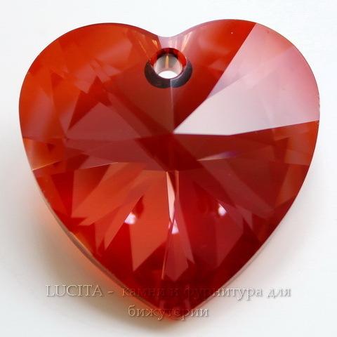 6202/6228 Подвеска Сваровски Сердечко Crystal Red Magma (28 мм)