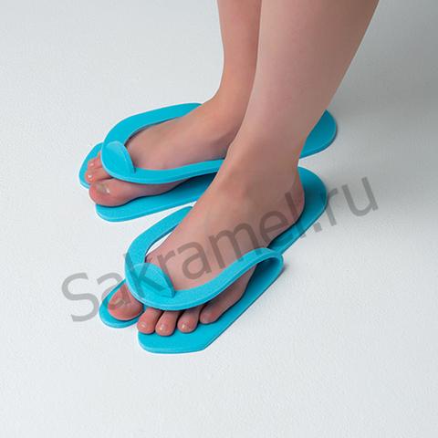Тапочки-вьетнамки Голубые (25 пар) -Пенополиэтилен 5 мм