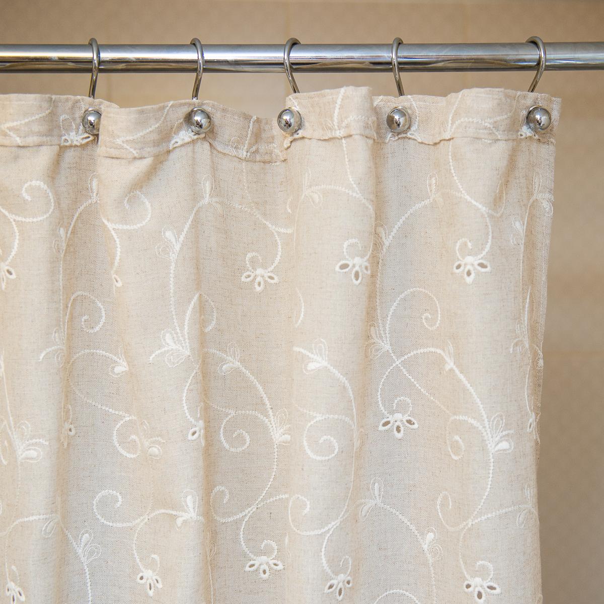 Шторки для ванной Шторка для ванной 180х200 Arti-Deco Embroidery 2803 Mix elitnaya-shtorka-dlya-vannoy-180h200-embroidery-2803-mix-от-arti-deco-ispaniya.jpg