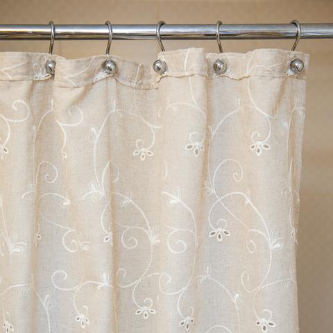 Элитная шторка для ванной 180х200 Embroidery 2803 Mix от Arti-Deco