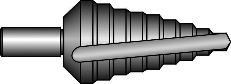 Ступенчатое сверло №0/5 (4,6,8,10,12) Bucovice HSS E 691005