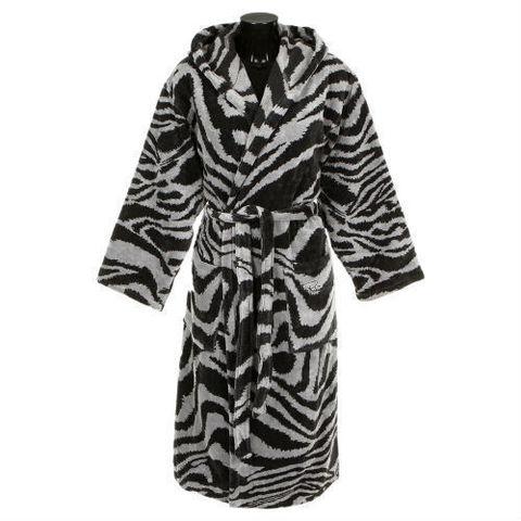 Элитный халат велюровый Zebra черный от Roberto Cavalli