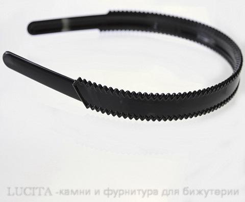 Ободок для волос 18 мм (цвет - черный) ()