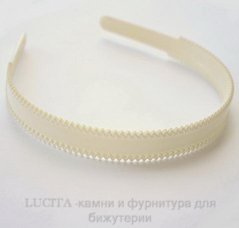 Ободок для волос 18 мм (цвет - белый) ()