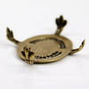 """Сеттинг - основа """"Черепашка"""" для камеи или кабошона 25х18 мм (оксид латуни) ()"""