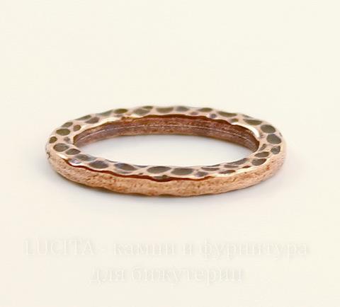 """Коннектор - кольцо овальное TierraCast """"Hammertone"""" 18х13 мм (цвет-античная медь)"""