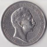 K0718, 1906, Германия, 5 марок, Ag, Пруссия, Вильгельм