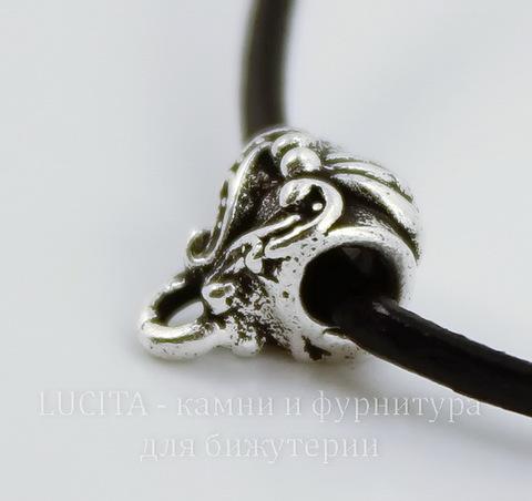"""Бейл TierraCast """"Викторианский"""" 10х6 мм (цвет-античное серебро)"""