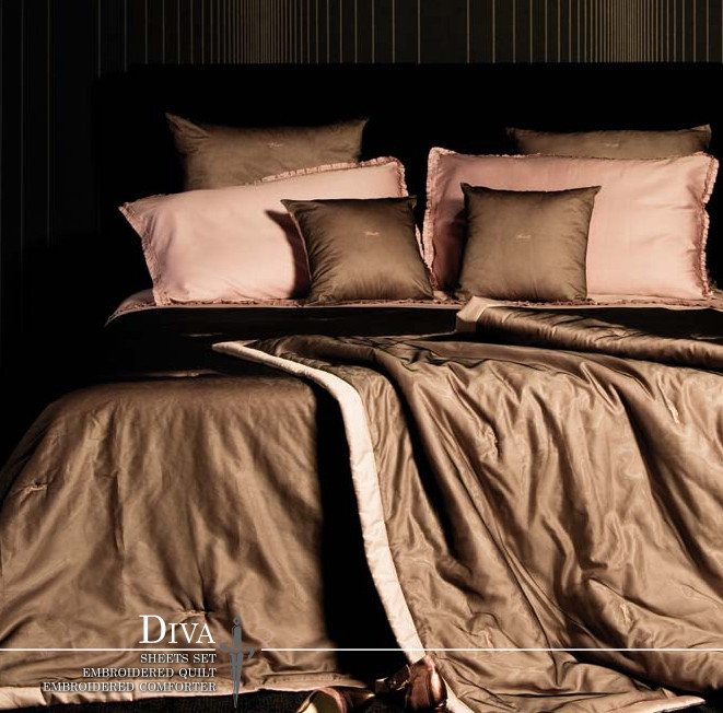Покрывало 270х270 Cesare Paciotti Diva коричневое
