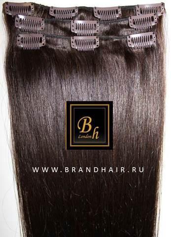 Мини набор из семи прядей,оттенок #4 шоколад,длина волос 38 см