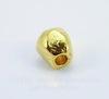 Бусина металлическая неправильной формы (цвет - античное золото) 10х9 мм