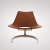 кресло scimitar armchair ( кожа)