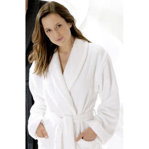 Элитный халат махровый Terry 6012 белый от Cawo