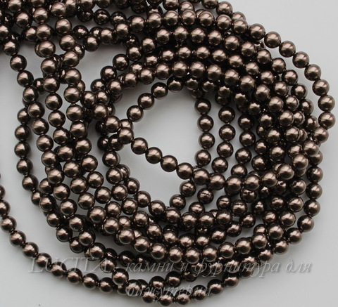 5810 Хрустальный жемчуг Сваровски Crystal Brown круглый 4 мм, 10 штук