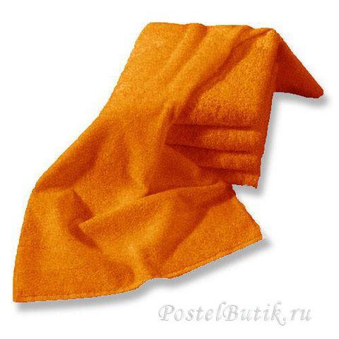 Полотенце 33х33 Mirabello Microcotton оранжевое