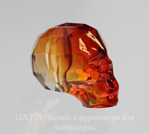 "5750 Бусина ""Череп"" Сваровски Crystal Red Magma 19 мм"