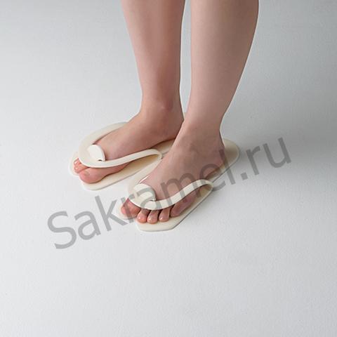 Тапочки-вьетнамки Белые (25 пар) - Изолон 5 мм