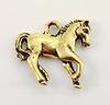 """Подвеска TierraCast """"Лошадь"""" (цвет-античное золото) 20х19 мм"""