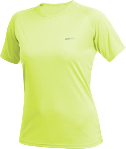Футболка женская Craft Active Run жёлтая