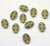 """Бусина металлическая овальная """"Мистика"""" (цвет - античная бронза) 13х10 мм, 10 штук"""