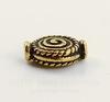 "Бусина TierraCast ""Спираль"" (цвет-античное золото) 12х9 мм"