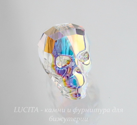 """5750 Бусина """"Череп"""" Сваровски Crystal AB 13 мм"""