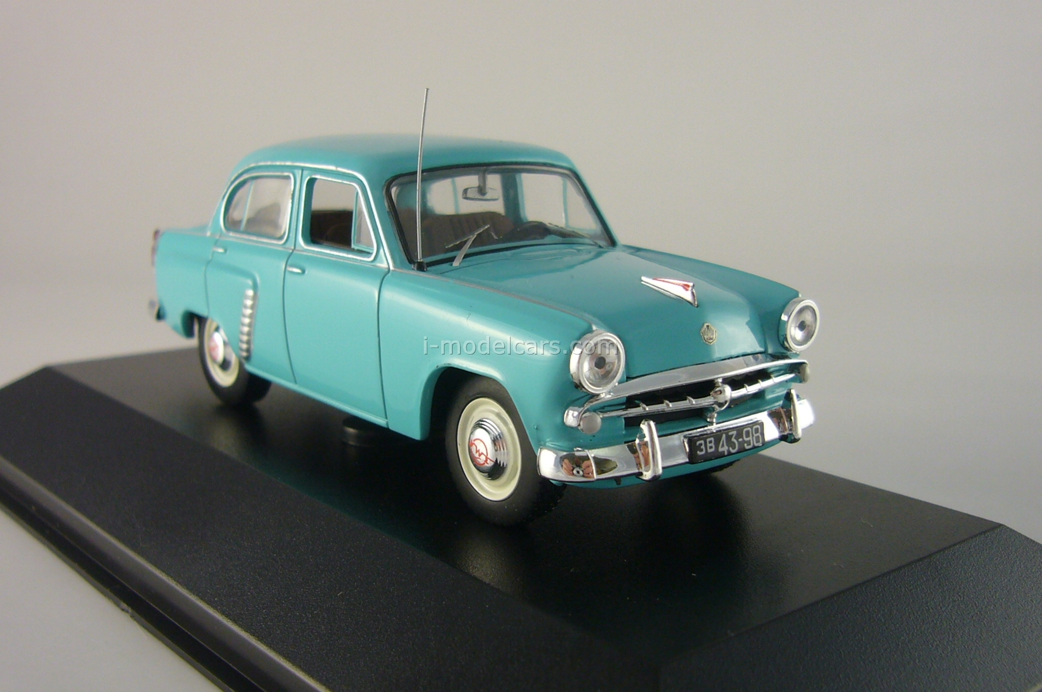 Moskvich-402 blue 1962 IST037 IST Models 1:43