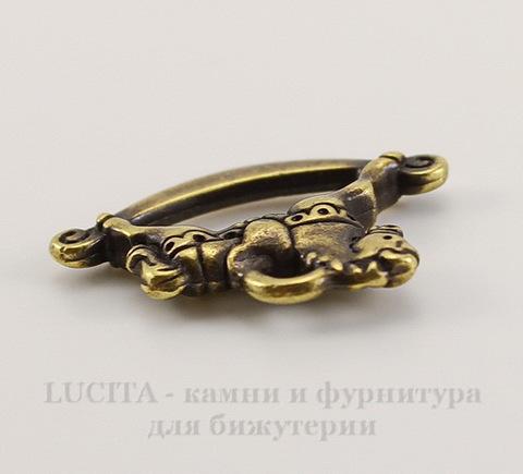 """Подвеска TierraCast """"Игрушечная лошадка"""" (цвет-античная латунь) 22х15 мм"""