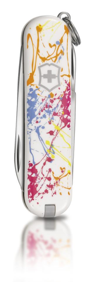 "Нож-брелок Victorinox Classic LE 2010, 58 мм, 7 функ, ""Splatter""  (0.6223.L1004)"