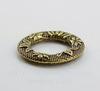 Коннектор - кольцо с цветочным орнаментом 24 мм (цвет - античная бронза)