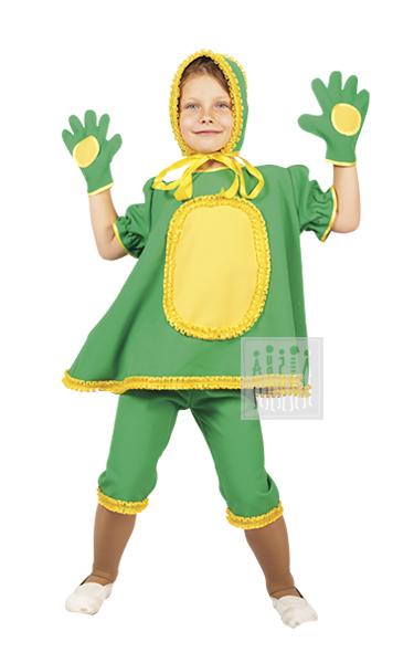 Карнавальный костюм Лягушки для девочки предназначен для спектаклей, костюмированных праздников, досугов в детских садах.