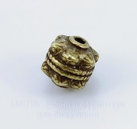 "Бусина металлическая ""Булава"" 11х10 мм (цвет - античная бронза)"
