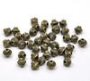 Бусина металлическая - биконус 7х6 мм (цвет - античная бронза), 10 штук (B14499C)