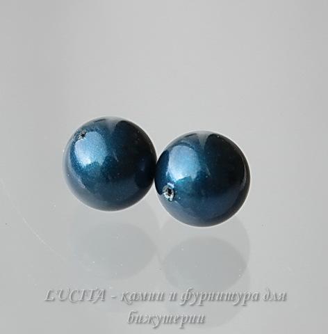 5818 Хрустальный жемчуг Сваровски Crystal Petrol круглый с несквозным отверстием 8 мм, 2 штуки