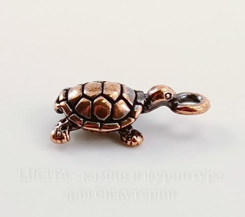 """Подвеска TierraCast """"Черепаха"""" 3D (цвет-античная медь) 20х11 мм"""