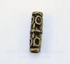 Бусина металлическая трубочка (цвет - античная бронза) 18х7 мм
