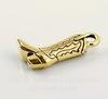 "Подвеска TierraCast ""Сапог"" (цвет-античное золото) 19х12 мм"