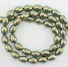 5821 Хрустальный жемчуг Crystal Iridescent Green  грушевидный 11х8 мм ()