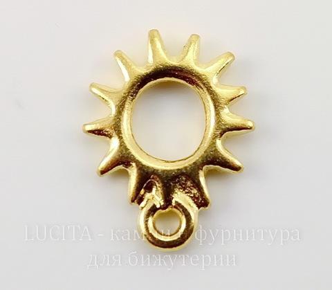 """Подвеска TierraCast """"Солнышко"""" (цвет-золото) 14х11 мм"""