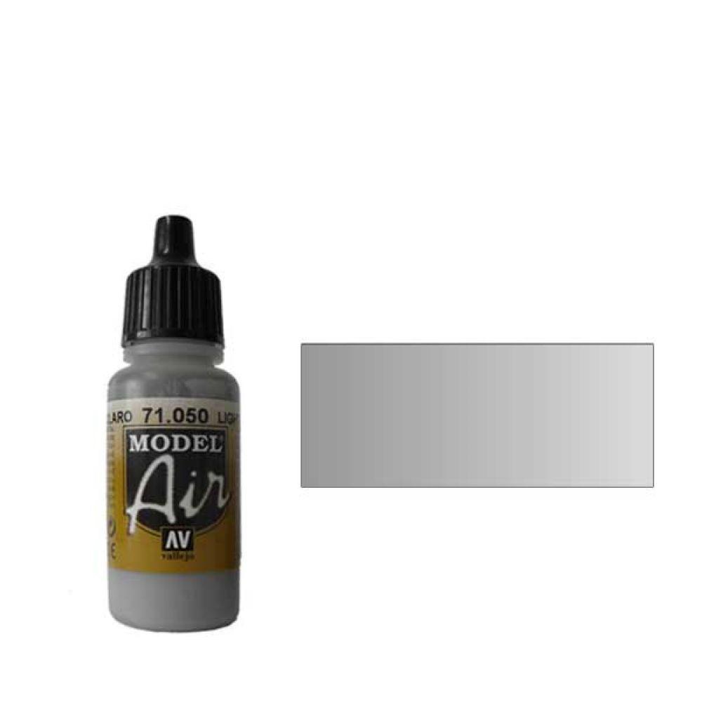 050 Краска Model Air Светло-серый (Light Grey) укрывистый, 17мл