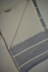 Полотенце пляжное 100х180 Hamam Estiva слоновая кость/голубое