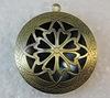 Медальон - подвеска ажурная (цвет - античная бронза) 36х32 мм ()