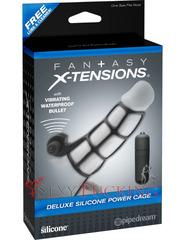 Силиконовая насадка на пенис X-tensions Deluxe Silicone Power Cage