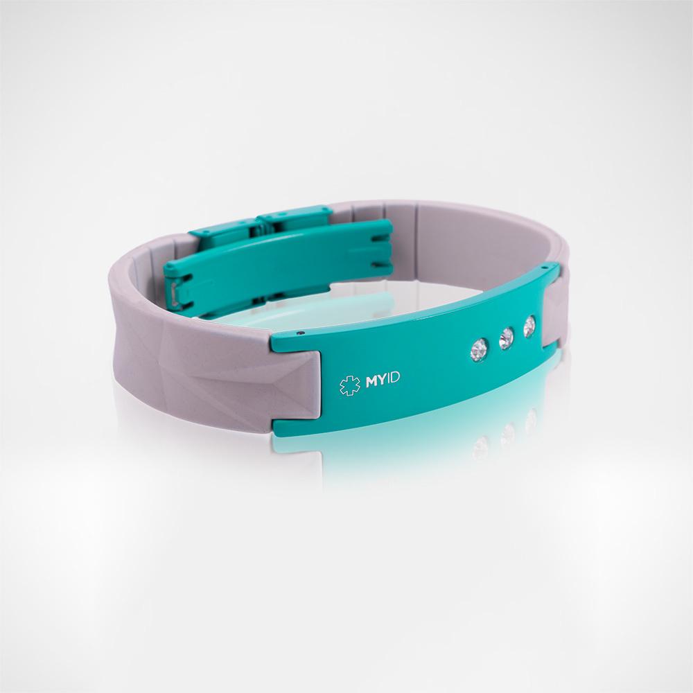 Браслет Lifestrength T1i New MyID luxe серый/голубой