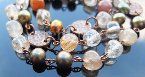 бусы из жемчуга и кварца Оливия а-0426-53